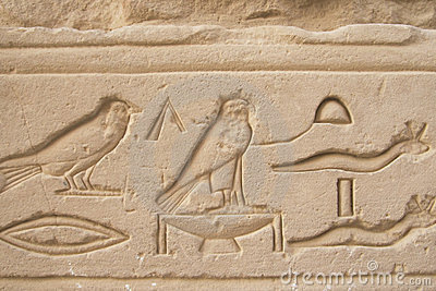 Birds and reptiles at hieroglyphics