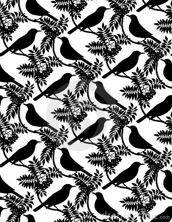 Birds. Seamless background.