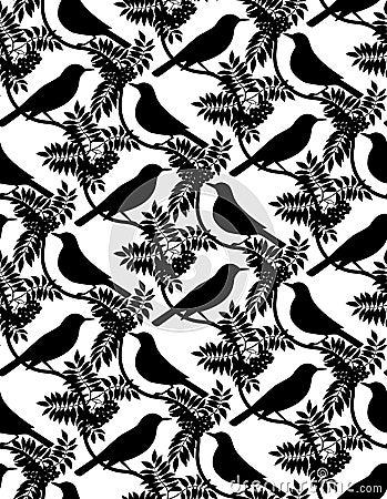 Birds. Seamless background.