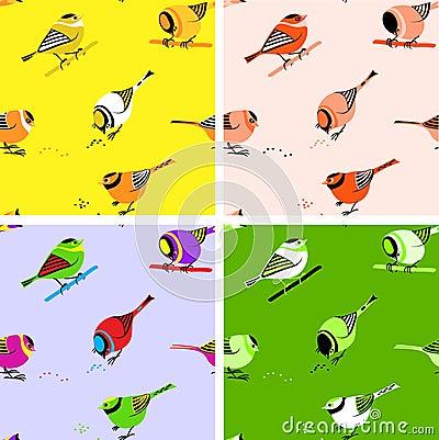 Free Birds Seamless Pattern Tiles Stock Photography - 13320002