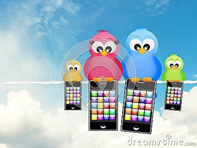 Birds with smartphones
