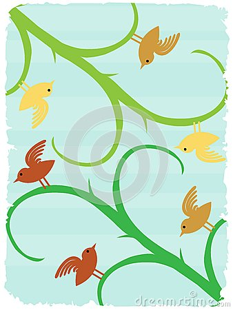 Birds stalks angledsurreal wildlife background