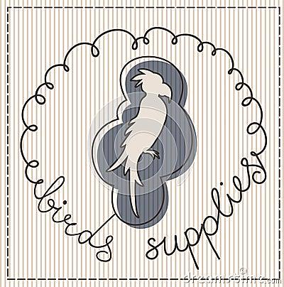 Birds supplies label