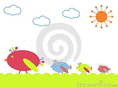 Birds on a walk