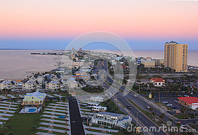 Birdseye View of Pensacola Beach Editorial Photography