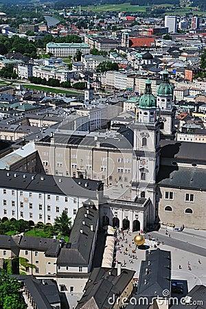 Birdview of Salzburg, Austria