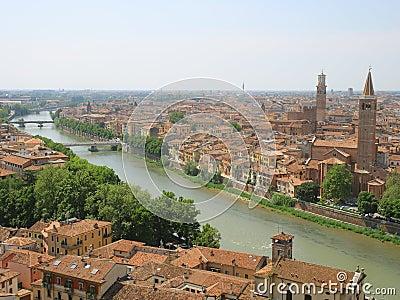 Birdview of Verona, Italy