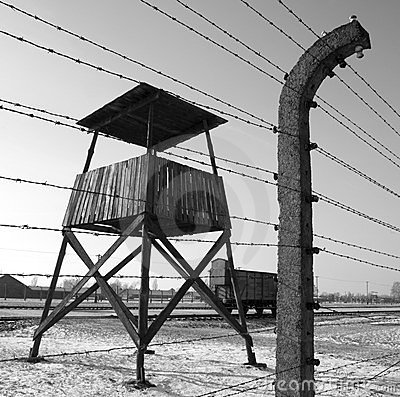 Birkenau Nazi Concentration Camp - Poland Editorial Stock Photo