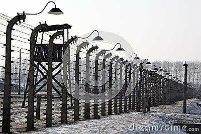 Birkenau obozowy koncentracyjny nazistowski Poland Fotografia Editorial