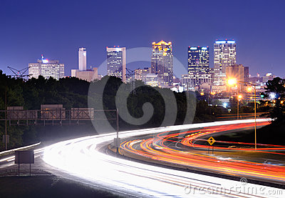Birmingham, Alabama Interstate Skyline