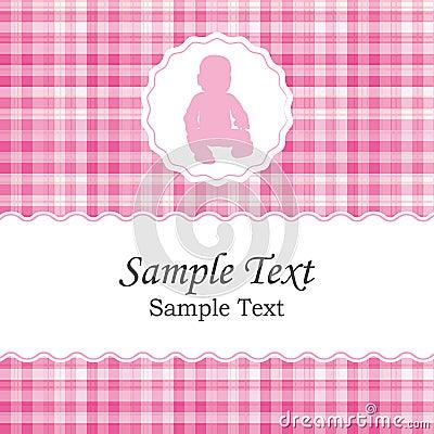 Birth Announcement Or Baby Shower Invitation Card For A Newborn – Baby Girl Birth Announcement Template