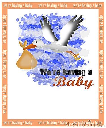 Birth announcement card