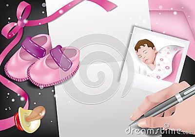 Birth announcement-girl
