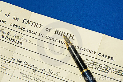 Birth certificate.