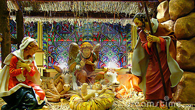 Birth of Jesus christ christmas