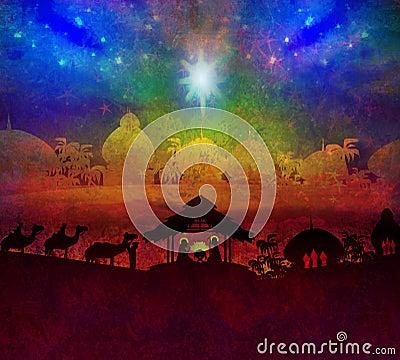 Birth of Jesus in Bethlehem.