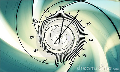 Birth of time. hi resolution 3d render.