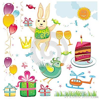 Free Birthday And Celebration Set Stock Photos - 5968543