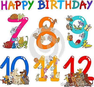 Birthday Anniversary cartoons set