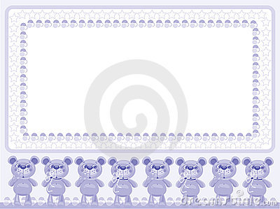 Birthday background with bears Vector Illustration