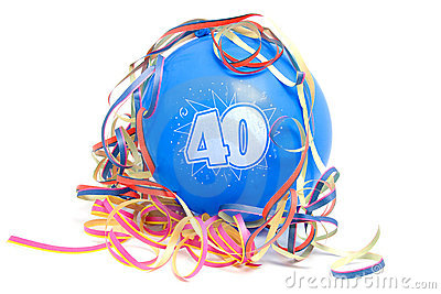 Birthday balloon with the number 40