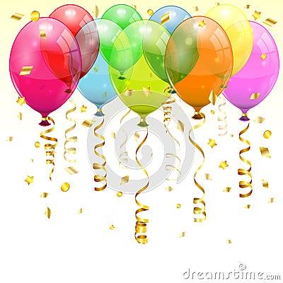 Free Birthday Balloons Royalty Free Stock Photography - 26884857