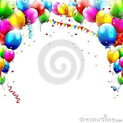 Free Birthday Balloons Stock Photography - 37238062