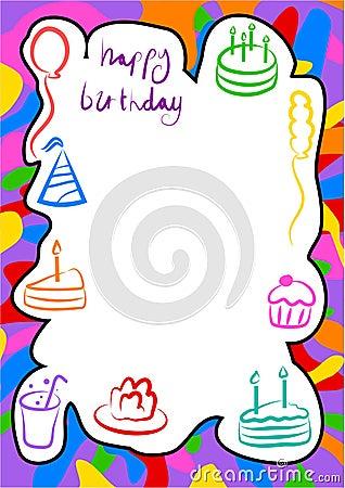 Free Birthday Border Royalty Free Stock Photography - 213827