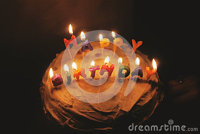 Birthday Cake With Candles Free Public Domain Cc0 Image