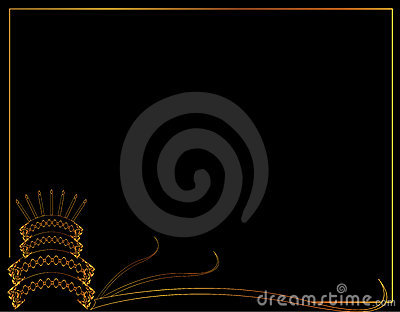 Birthday Cake Frame Background Royalty Free Stock Images