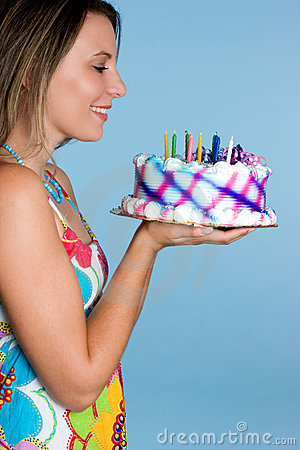 Free Birthday Cake Girl Stock Image - 6668581