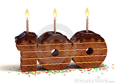 Birthday cake hundredth birthday or anniversary