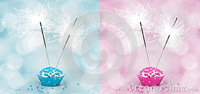 Birthday Cake With Sparkler Stock Photos - Image: 27818043