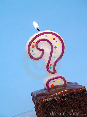 Free Birthday Cake With Question Candle Stock Image - 1853681