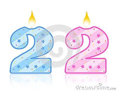 Birthday candle - 2