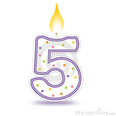 Birthday candle - 5