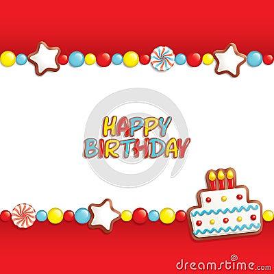 Free Birthday Candy Background Royalty Free Stock Photo - 18697465