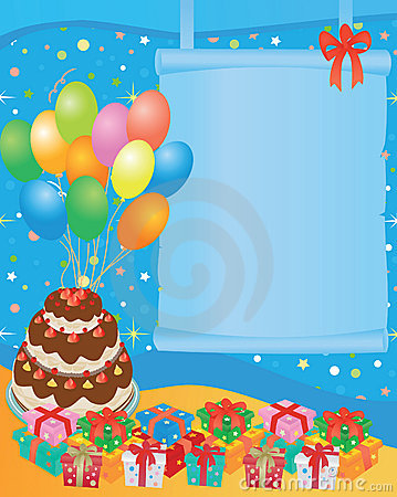Free Birthday Card Stock Image - 8036491