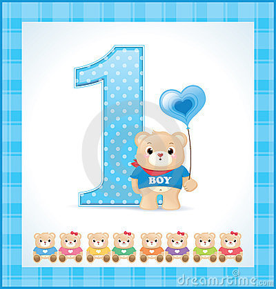 Birthday card for baby boy