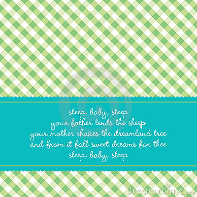 Birthday card with baby lullaby