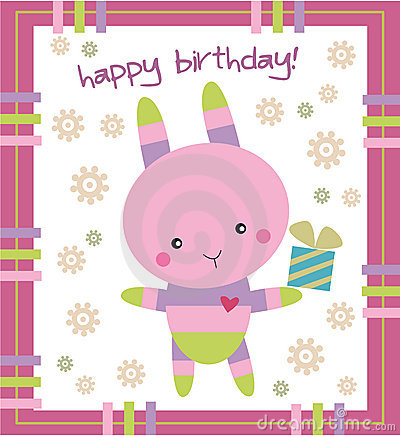 Birthday card- bunny