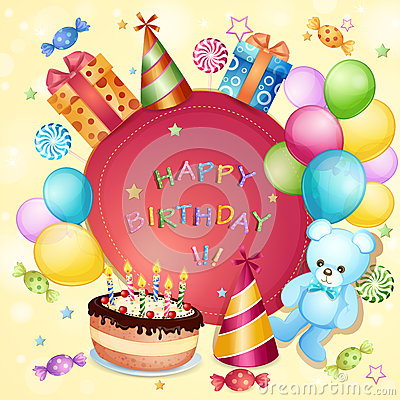 Birthday Card Royalty Free Stock Image - Image: 30777776
