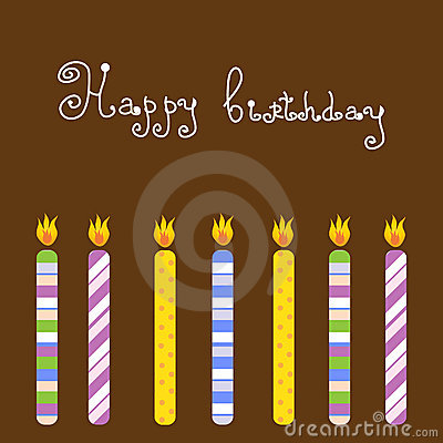 Birthday Card With Candles Stock Image - Image: 15954401