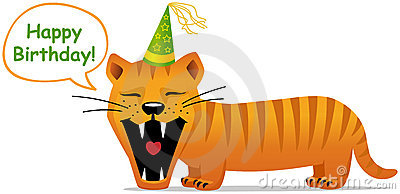 Birthday card, smiling cat