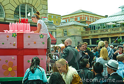Birthday celebrations, Covent Garden Editorial Image
