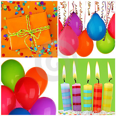 Free Birthday Collage Royalty Free Stock Photography - 19397707
