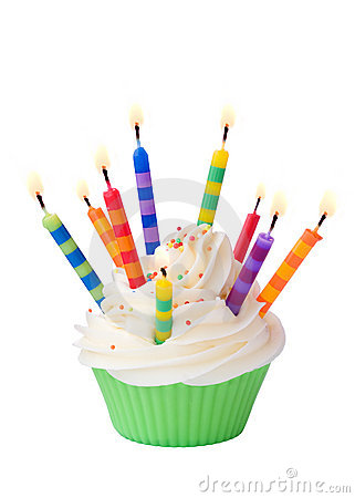 Free Birthday Cupcake Royalty Free Stock Image - 13555466