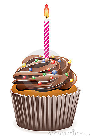 Free Birthday Cupcake Royalty Free Stock Photo - 14914555