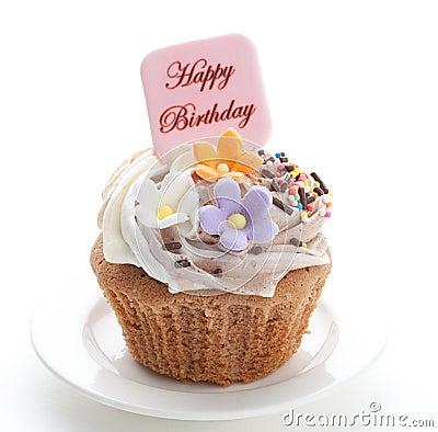 Free Birthday Cupcake Stock Photo - 24709300