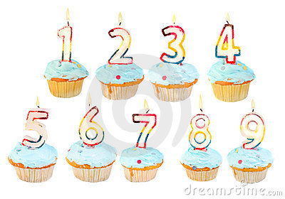 Birthday cupcake birthday set